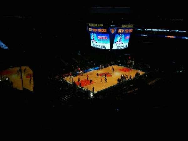 Madison Square Garden, secção: 220, fila: 13, lugar: 20