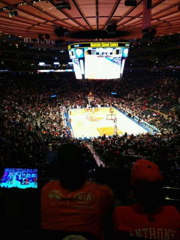 Madison Square Garden, secção: 217, fila: 3, lugar: 3