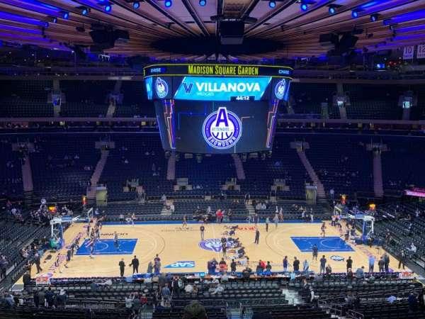 Madison Square Garden, secção: 211, fila: 6, lugar: 3