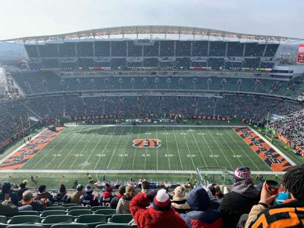 Paul Brown Stadium, secção: 340, fila: 23, lugar: 6
