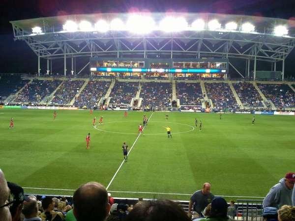Talen Energy Stadium, secção: 127, fila: R, lugar: 3
