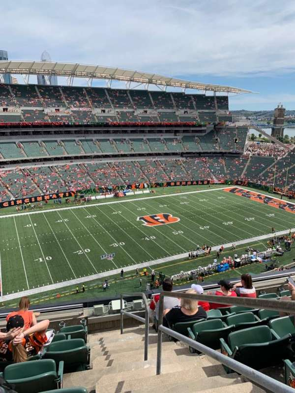 Paul Brown Stadium, secção: 314, fila: 7, lugar: 1
