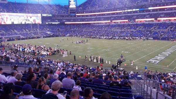 M&T Bank Stadium, secção: 148, fila: 34, lugar: 1