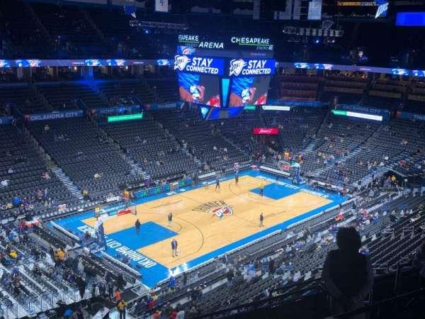 Chesapeake Energy Arena, secção: 312, fila: H, lugar: 14