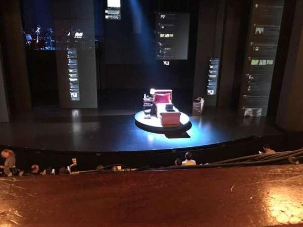 Music Box Theatre, secção: Mezzanine C, fila: A, lugar: 109