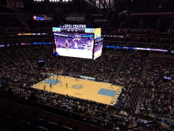 Ball Arena, secção: 338, fila: 10, lugar: 1