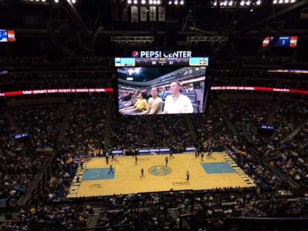 Ball Arena, secção: 344, fila: 10, lugar: 1