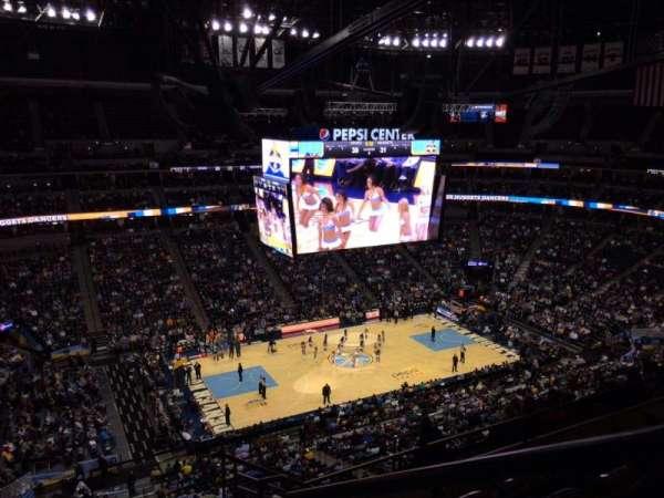 Ball Arena, secção: 348, fila: 10, lugar: 1