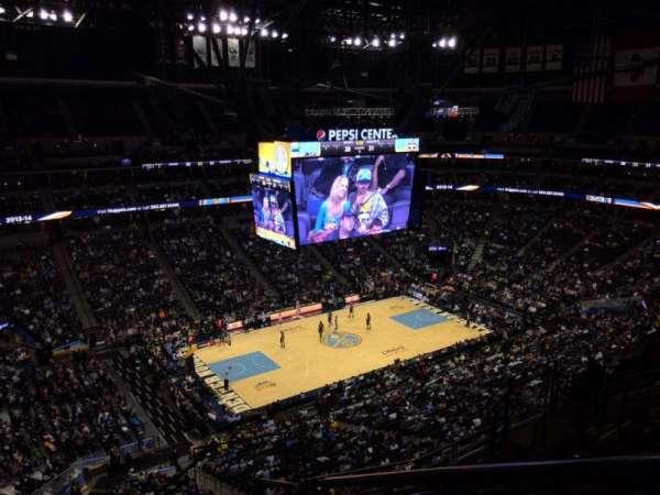 Ball Arena, secção: 350, fila: 12, lugar: 1