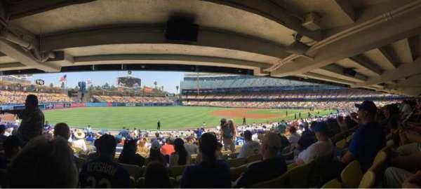 Dodger Stadium, secção: 41FD, fila: X, lugar: 5