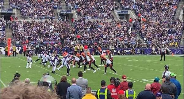 M&T Bank Stadium, secção: 125, fila: 5, lugar: 12