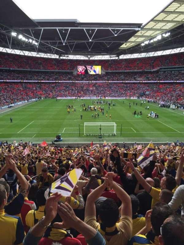 Wembley Stadium, secção: 112, fila: 43, lugar: 7