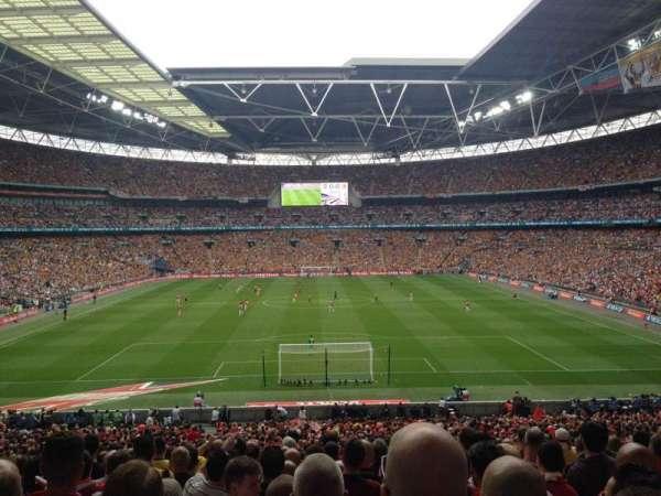 Wembley Stadium, secção: 134, fila: 43, lugar: 1