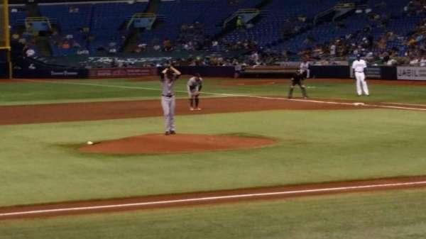 Tropicana Field, secção: 115, fila: N, lugar: 1