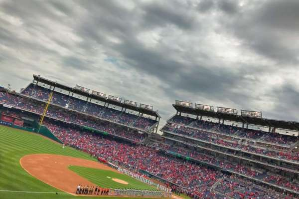 Nationals Park, secção: 205, fila: G, lugar: 11
