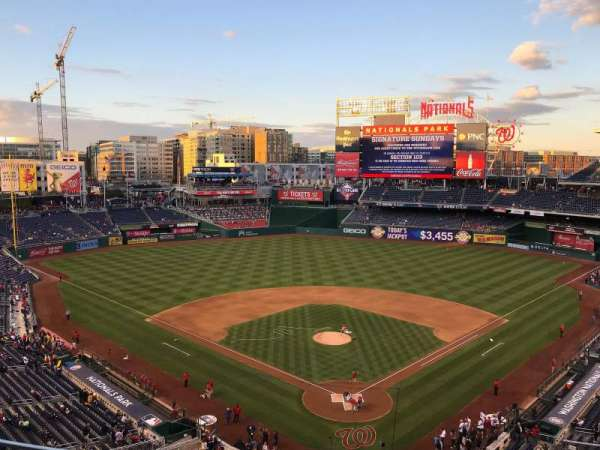 Nationals Park, secção: 313, fila: B, lugar: 11