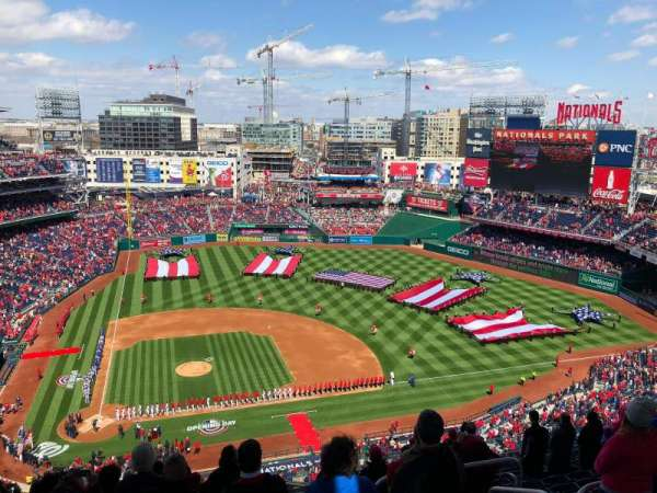 Nationals Park, secção: 417, fila: N, lugar: 4