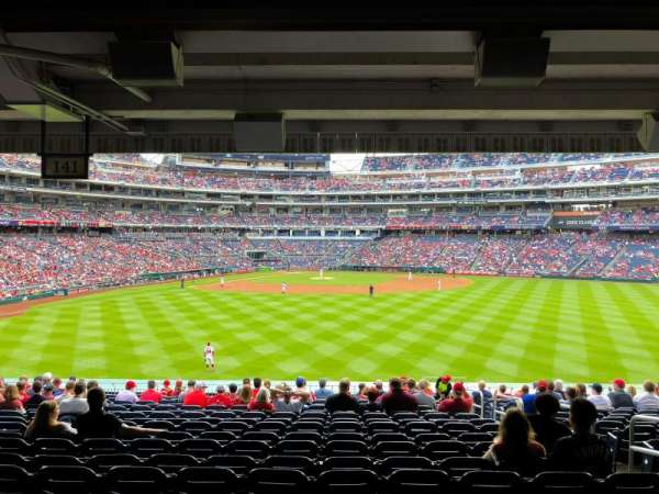 Nationals Park, secção: 141, fila: V, lugar: 5