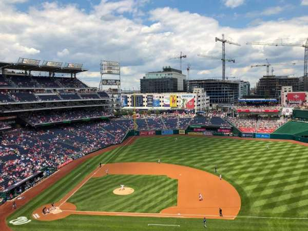 Nationals Park, secção: 319, fila: F, lugar: 9