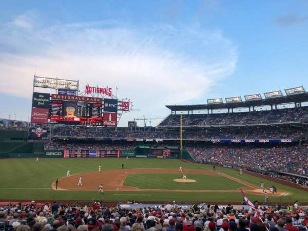 Nationals Park, secção: 116, fila: TT, lugar: 10