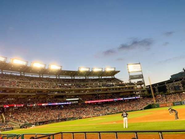 Nationals Park, secção: 131, fila: F, lugar: 5