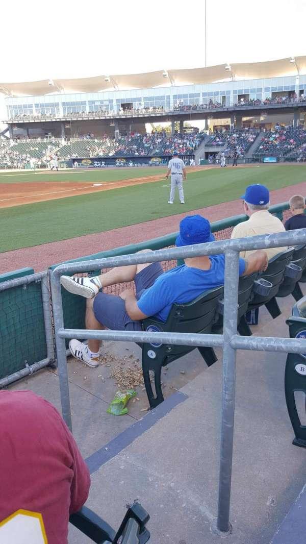Arvest Ballpark, secção: 117, fila: 3, lugar: 1