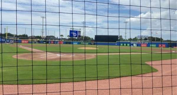 TD Ballpark, secção: 106, fila: 1, lugar: 10