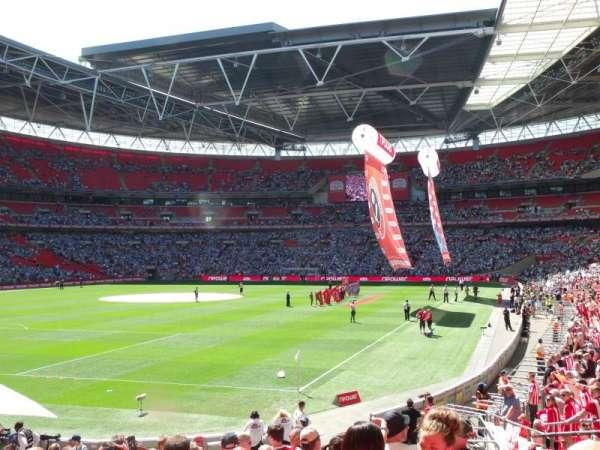 Wembley Stadium, secção: 108, fila: 21, lugar: 157