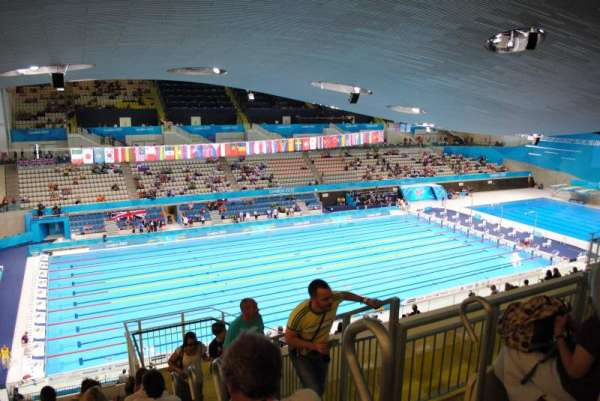 London Aquatics Centre, secção: 313, fila: 21, lugar: 162