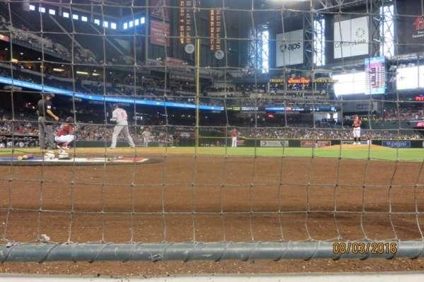 Chase Field, secção: GW, fila: AW, lugar: 6