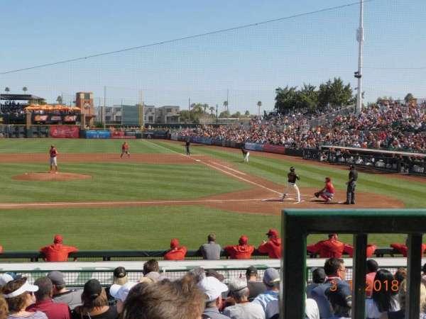 Scottsdale Stadium, secção: 209, fila: K, lugar: 1