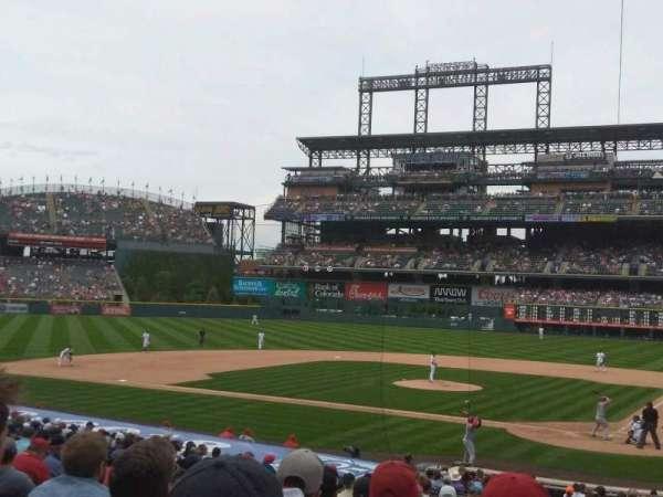 Coors Field, secção: 134, fila: 27, lugar: 5