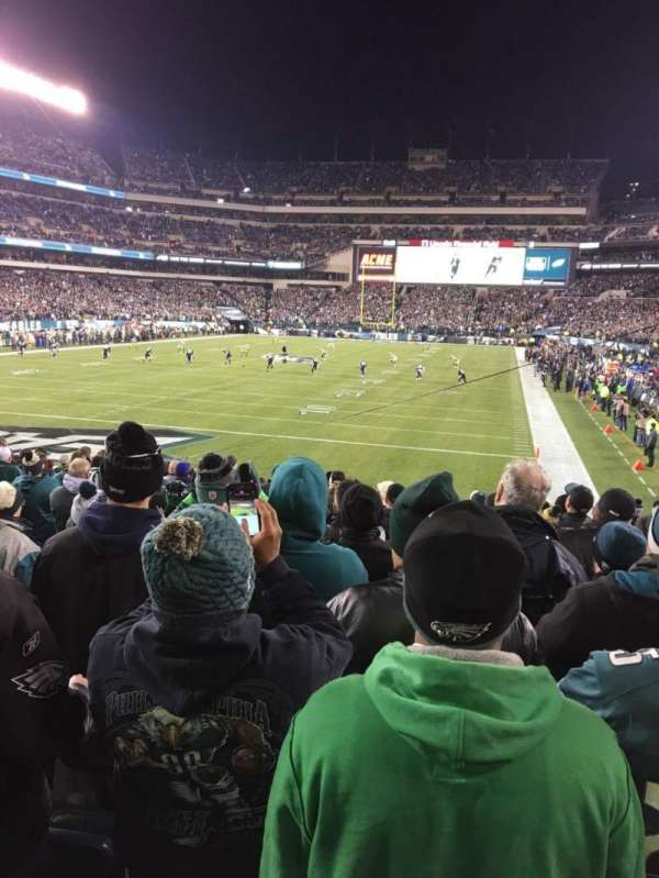 Lincoln Financial Field, secção: 131, fila: 16, lugar: 9
