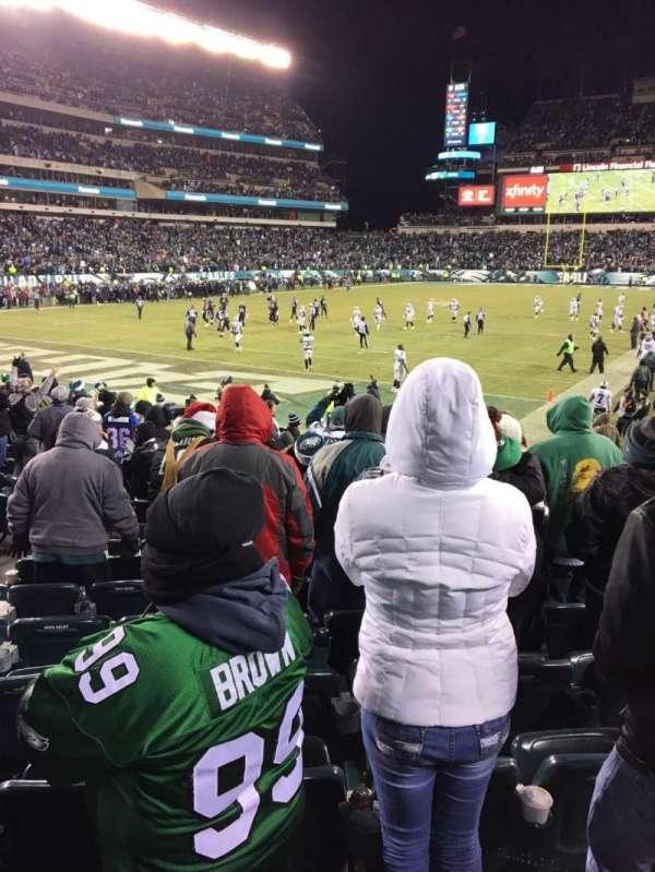 Lincoln Financial Field, secção: 113, fila: 14, lugar: 5