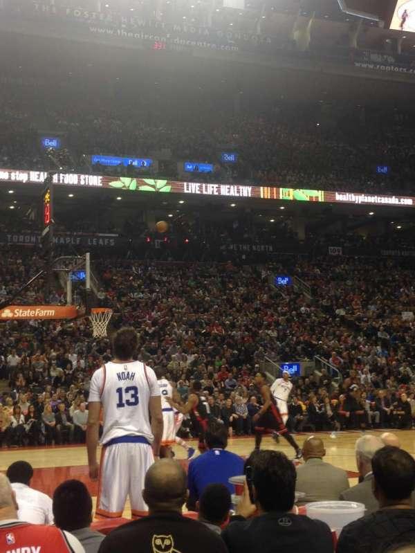 Scotiabank Arena, secção: 109, fila: 2, lugar: H