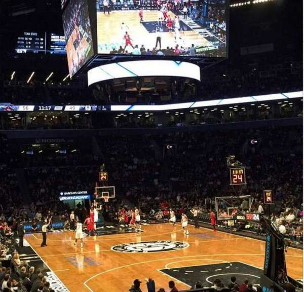 Barclays Center, secção: 1, fila: 15, lugar: 20