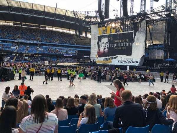 Etihad Stadium (Manchester), secção: 104, fila: K, lugar: 89