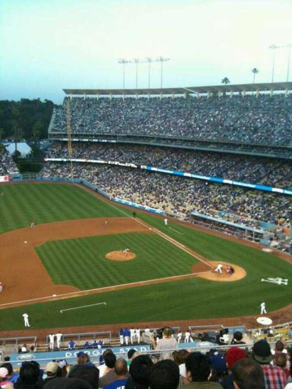 Dodger Stadium, secção: Reserve, fila: O, lugar: 18