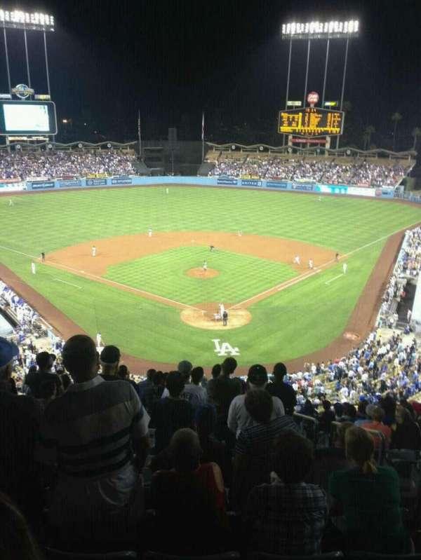 Dodger Stadium, secção: 3RS, fila: O, lugar: 3