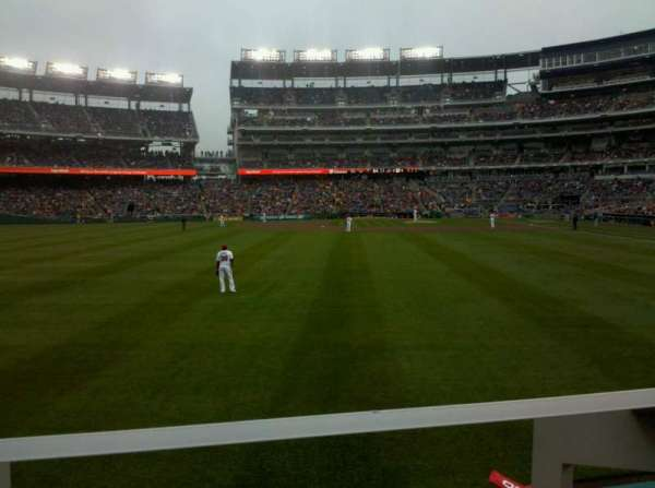 Nationals Park, secção: 104, fila: A, lugar: 10
