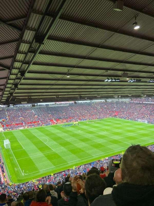 Old Trafford, secção: NE3424, fila: 28, lugar: 11