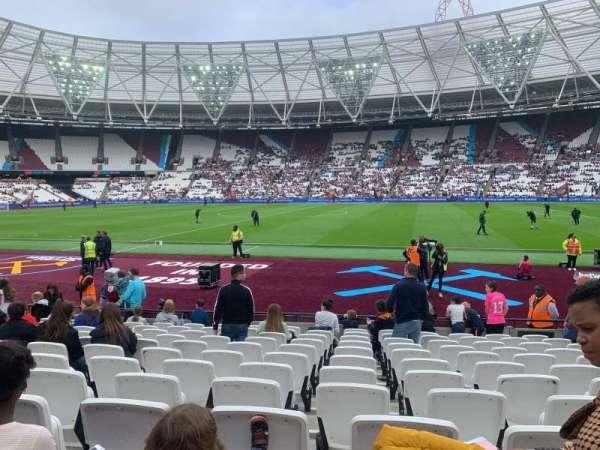 London Stadium, secção: 110, fila: 12 , lugar: 278