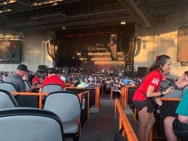PNC Music Pavilion, secção: 5, fila: J, lugar: 25