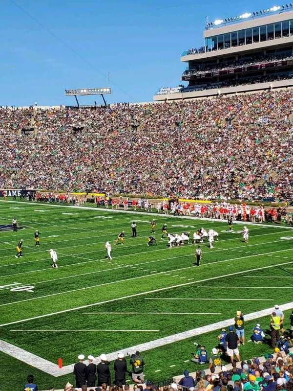 Notre Dame Stadium, secção: 22, fila: 39, lugar: 12