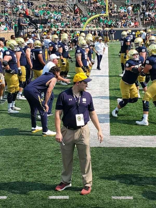 Notre Dame Stadium, secção: 32, fila: 3, lugar: 1