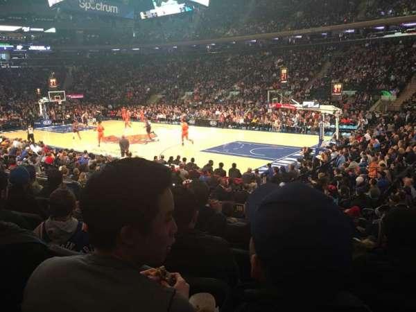 Madison Square Garden, secção: 109, fila: 9, lugar: 13