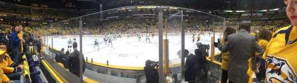 Bridgestone Arena, secção: 115, fila: DD, lugar: 2