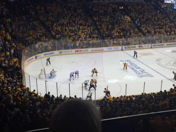 Bridgestone Arena, secção: 213, fila: E, lugar: 15
