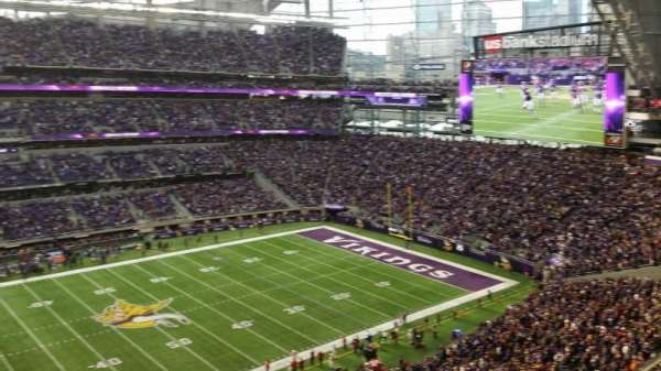 U.S. Bank Stadium, secção: 314, fila: B, lugar: 20