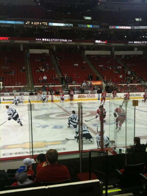 PNC Arena, secção: 120, fila: H, lugar: 1